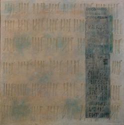 Kronos und Kairos III, 2012<br>800 x 800 mm Acryl auf Leinwand