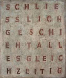Schliesslich geschieht..., 2013<br>1400 x 1200 mm Acryl auf Leinwand