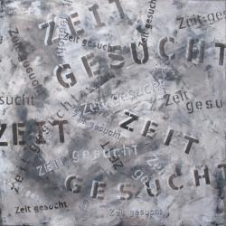 Suchanzeige, 2014<br>1000 x 1000 mm Acryl auf Leinwand