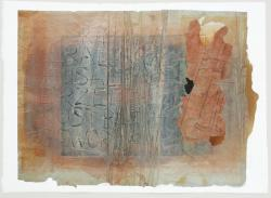 Scripturales, 2012<br>390 x 535 mm Mixed Media